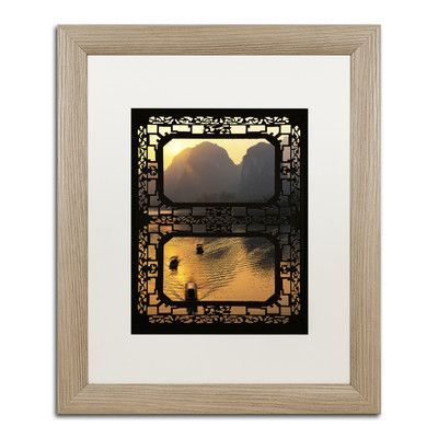 "Trademark Art ""Sunrise View I"" by Philippe Hugonnard Framed Photographic Print Size: 14"" H x 11"" W x 0.5"" D, Matte Color: White"