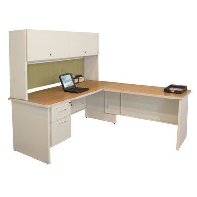 Marvel Office Furniture Pronto L-Shape Return Executive Desk | Wayfair