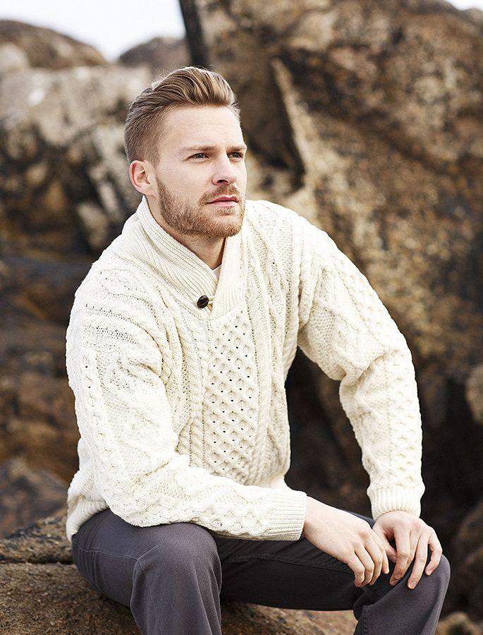 Shawl Neck Honeycomb Sweater | love. | Pinterest | Suéteres