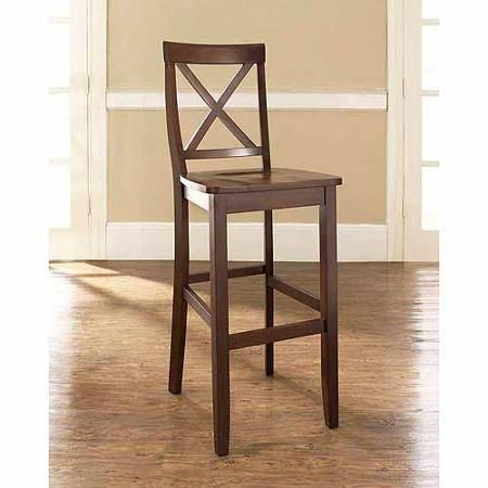 "Crosley Furniture X-Back Bar Stool with 30"" Seat Height, 2pk"