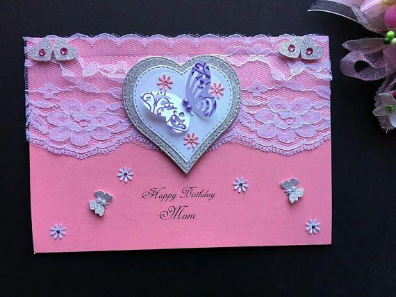 Handmade Personalised Birthday Card Luxury Greeting