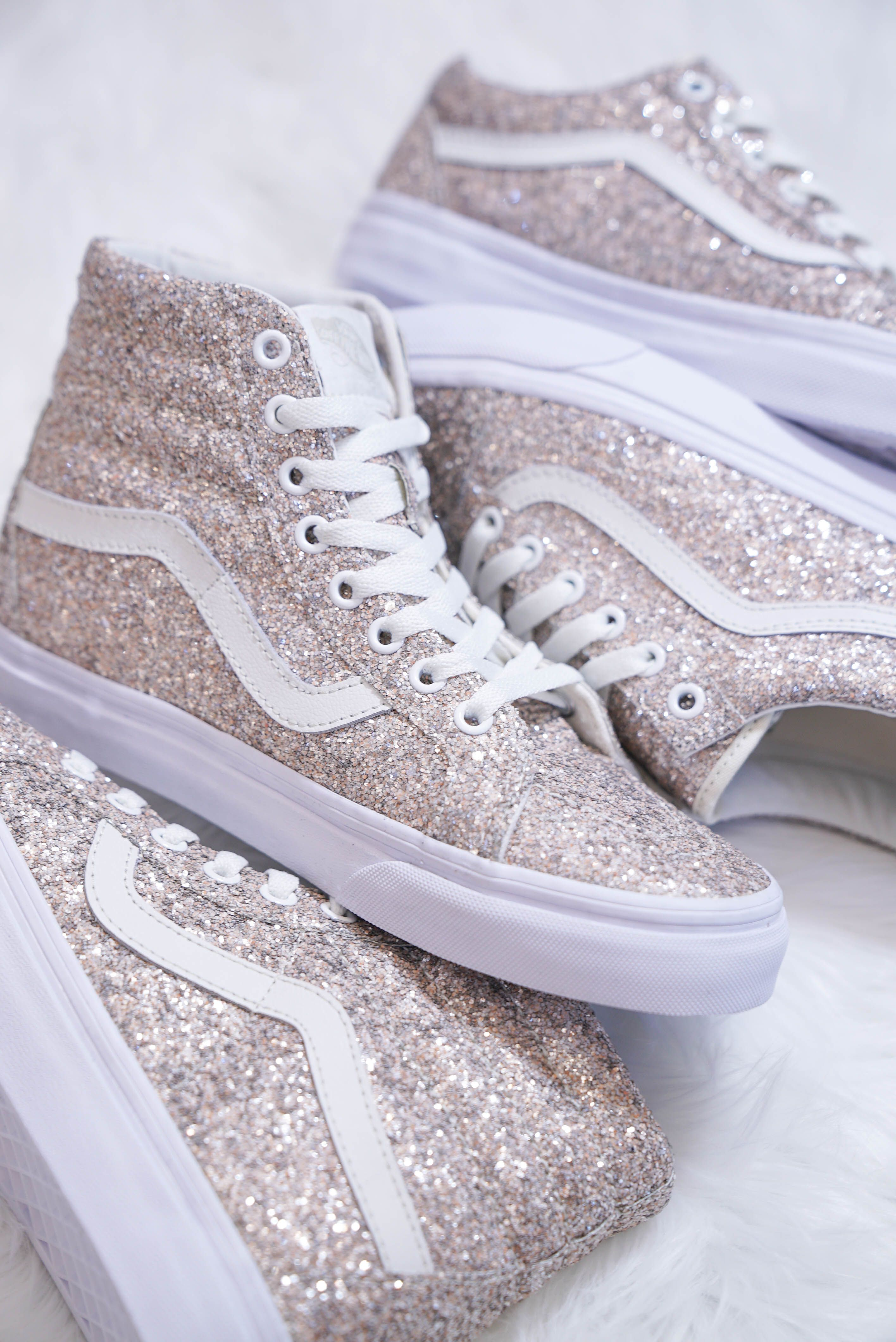 72018b8ac7cb1 Vans Sk8-Hi Chunky Glitter Skate Shoes | Clothes in 2019 ...
