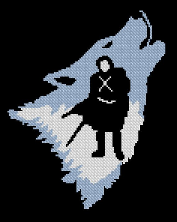 Photo of BOGO SALE, Cross stitch pattern, Jon Snow Stark, Game of Thrones, Cross-stitch PDF, Instant Download, Needlework, Embroidery, Digital #054