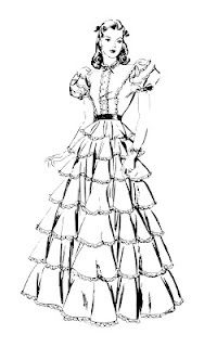 Gone With Wind Coloring Pages Sketch Coloring Page Coloring Pages Color Hand Dress