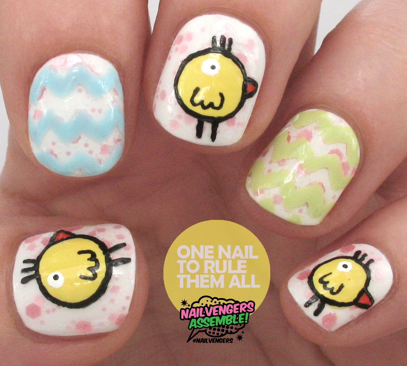 One Nail To Rule Them All Easter nail nails nailart  OBSESSED