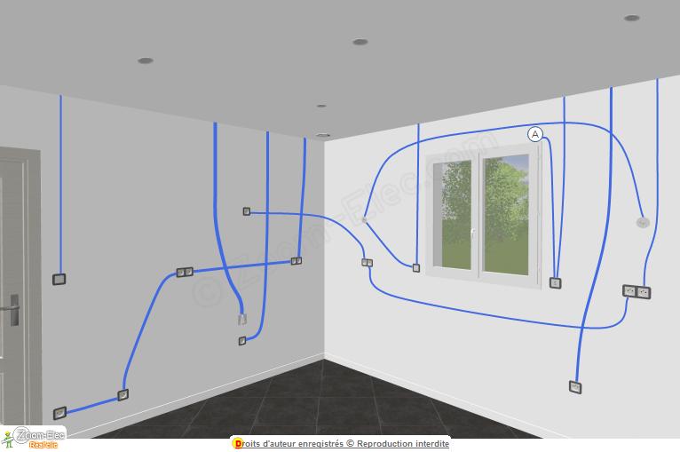 Circuit électrique d'une cuisine, schéma de l'électricité de la cuisine | Schema electrique ...