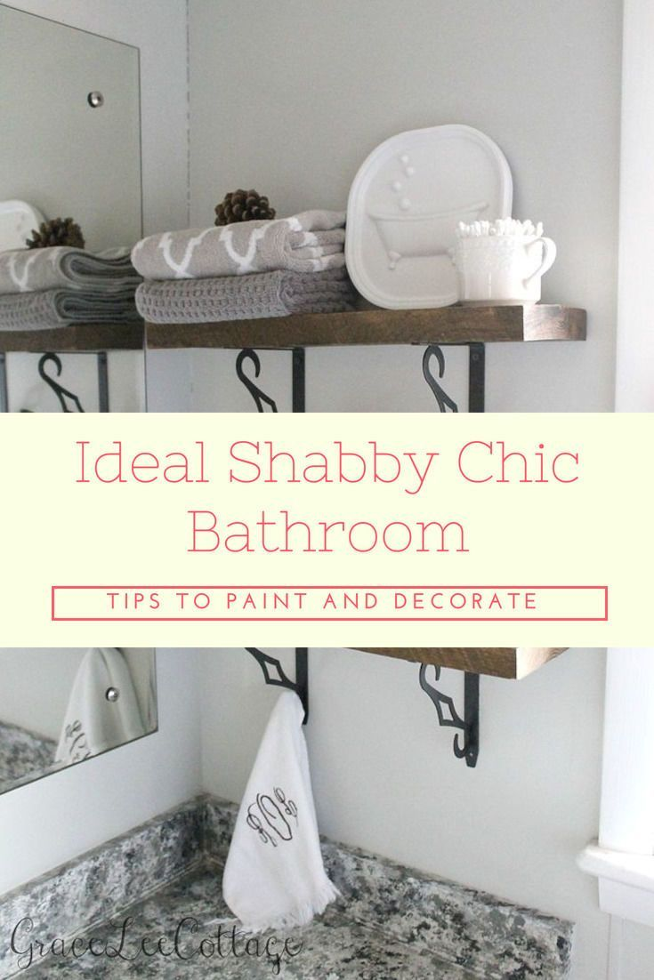How to Go for the Ideal Shabby Chic Bathroom Accessories Used for ...