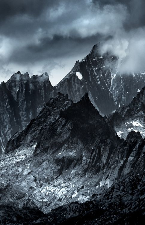 Black And White Artistic Mountain Landscape B W