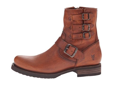 Frye Veronica Belted Short Cognac Washed Oiled Vintage - Zappos.com Free Shipping BOTH Ways