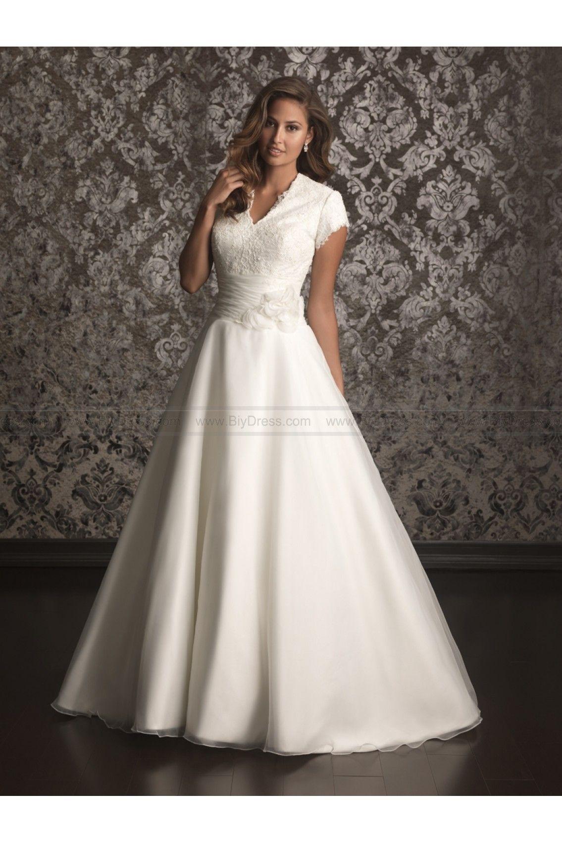Allure modest wedding dresses style m brides pinterest
