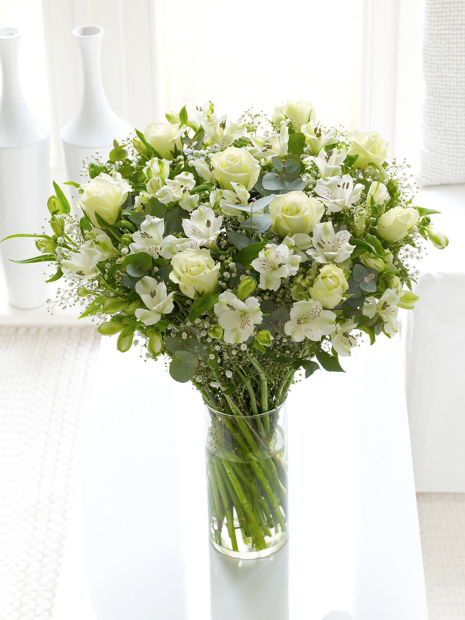 Fairtrade pure white handtied interflora best online