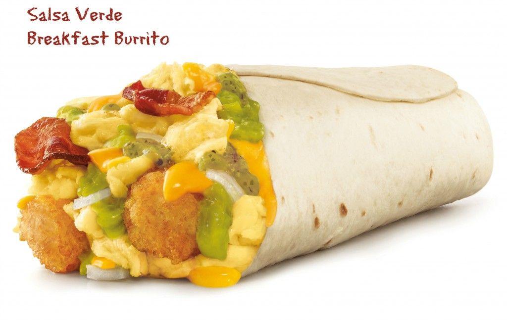 Salsa Verde Breakfast Burrito from Sonic