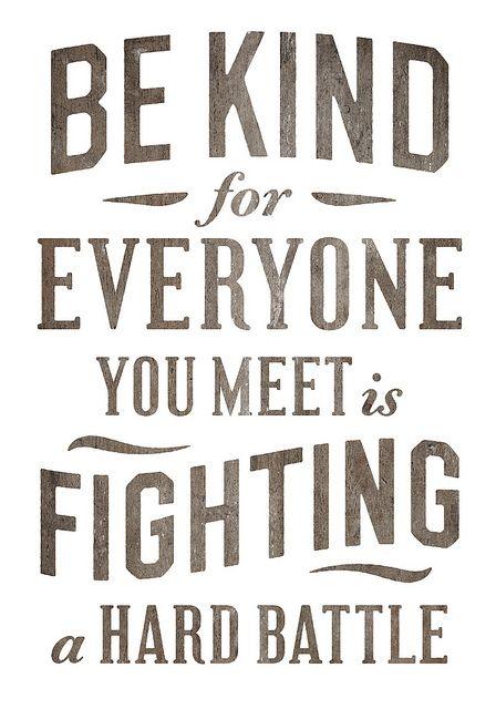 Be kind (by Simon Walker)