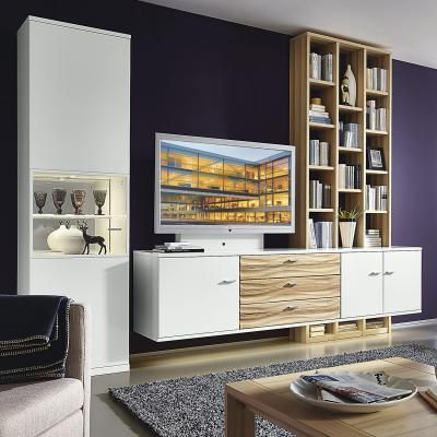Möbel wohnzimmer weiß  Bondomus Wohnwand Toronto in weiß   Wohnzimmer   Pinterest   Möbel ...