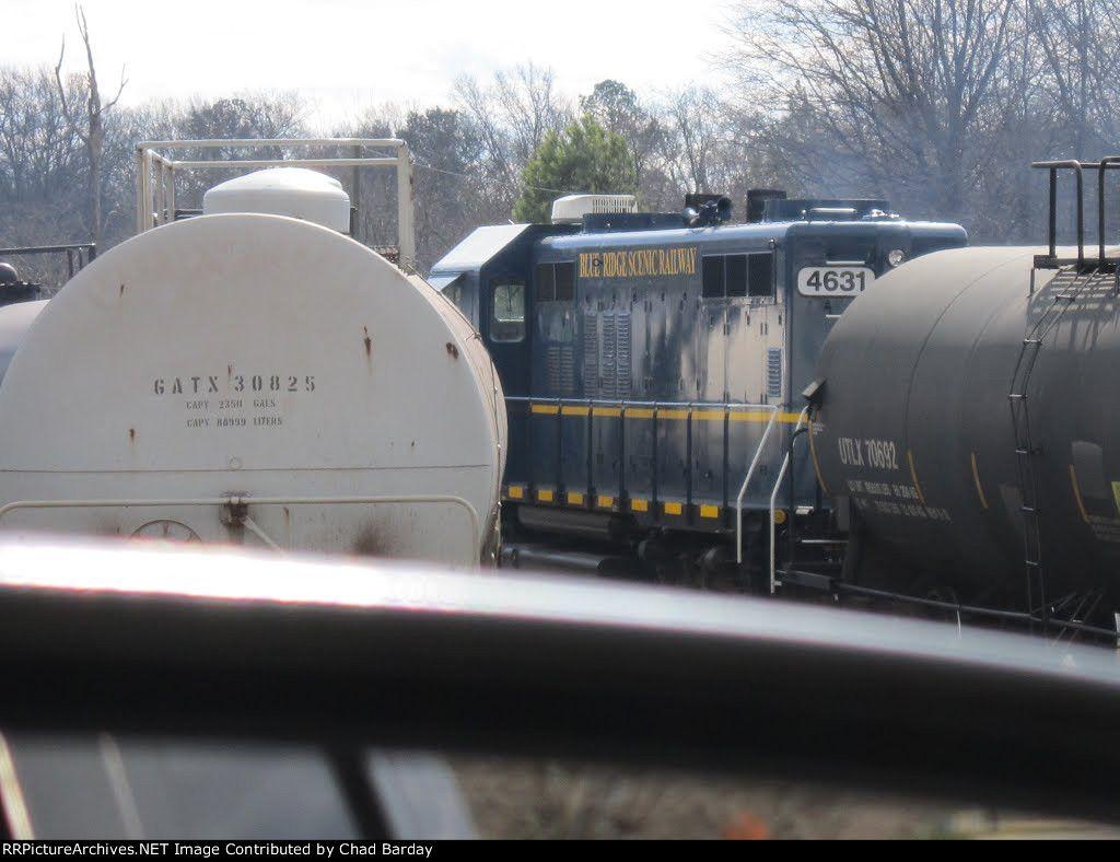 GNRR 4631   Description:    Photo Date:  2/11/2012  Location:  Elizabeth, GA   Author:  Chad Barday  Categories:  Roster,Yard,Track  Locomotives:  GNRR 4631(GP9R)