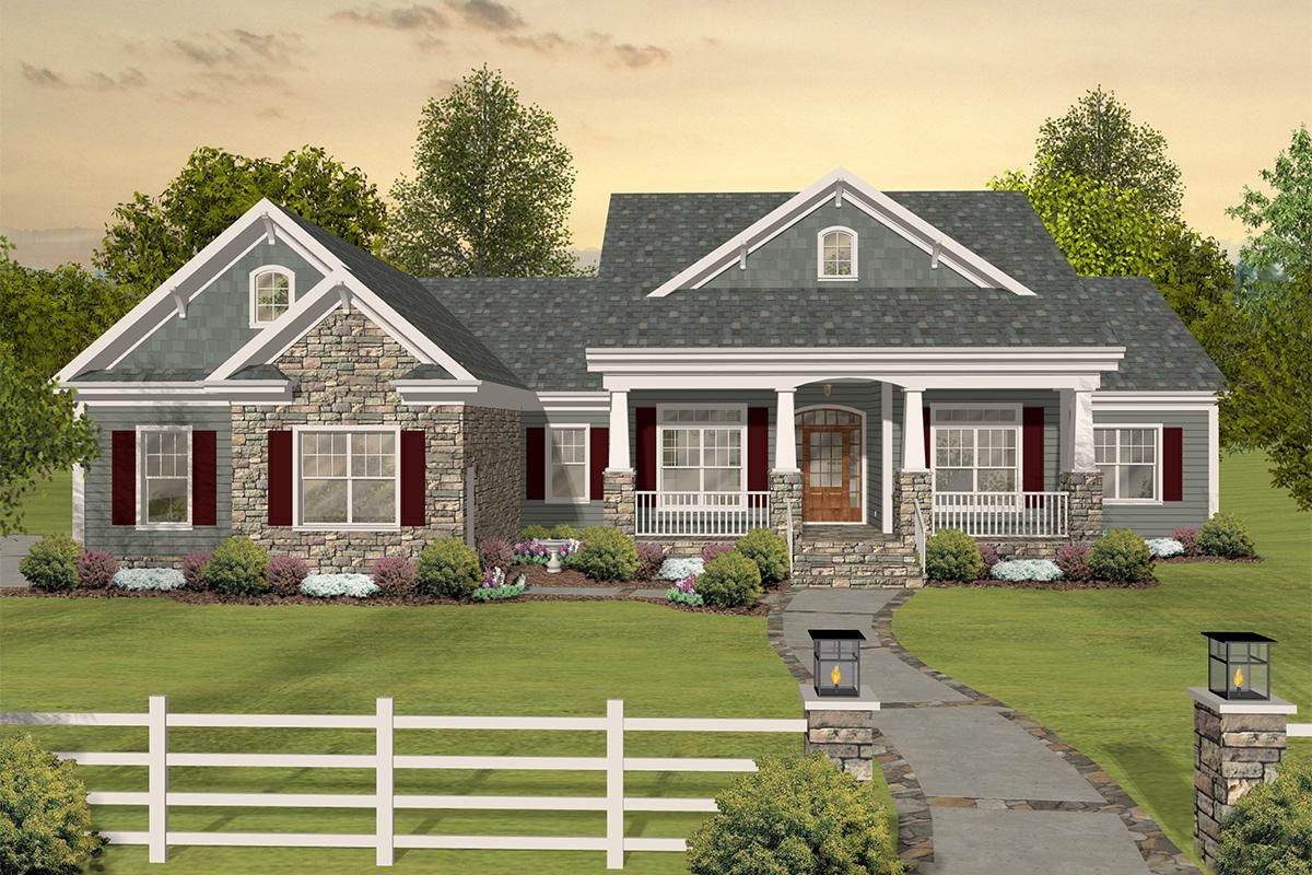 House Plan 036 00243 Country Plan 2 156 Square Feet 3 Bedrooms 3 Bathrooms Craftsman House Plans Basement House Plans Ranch House Plans