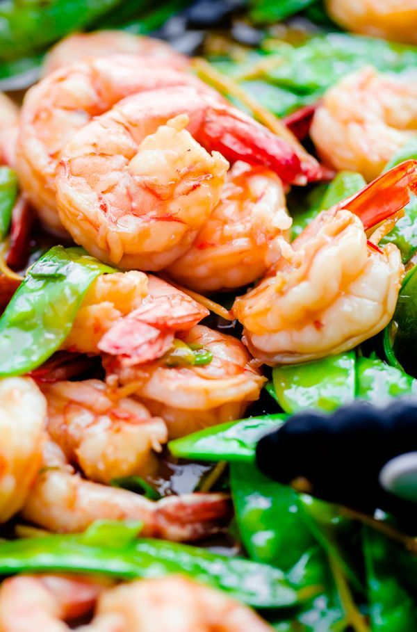 15-Minute Shrimp, Snow Pea, and Ginger Stir Fry - A Beautiful Plate