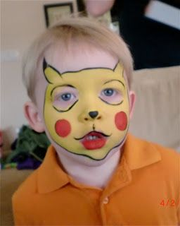 Face Painting Picachu Whole Face Pikachu Face Painting Face Painting Face Painting Halloween
