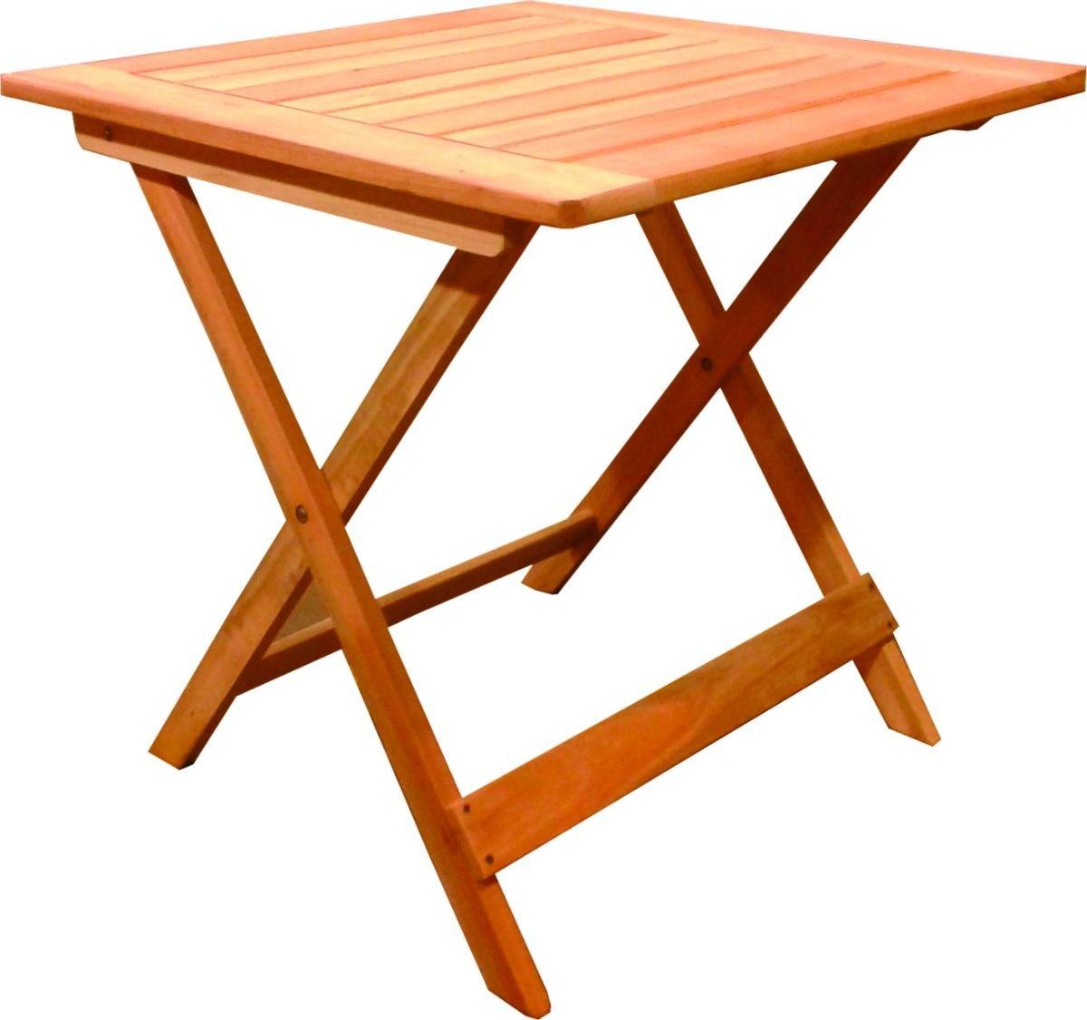 Mesa plegable de madera eucaliptus ideal bar patio o - Mesas de madera plegables para exterior ...