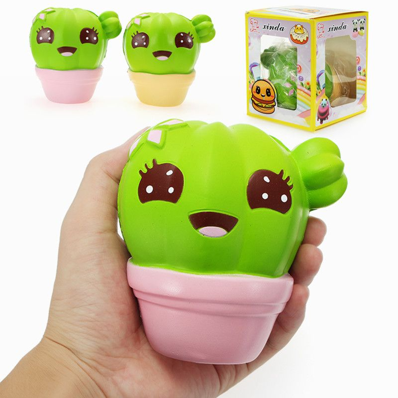 Squishy Toy Collection : Xinda Squishy Cactus Plant 11cm Soft Slow Rising With Packaging Collection Gift Decor Toy Toys ...