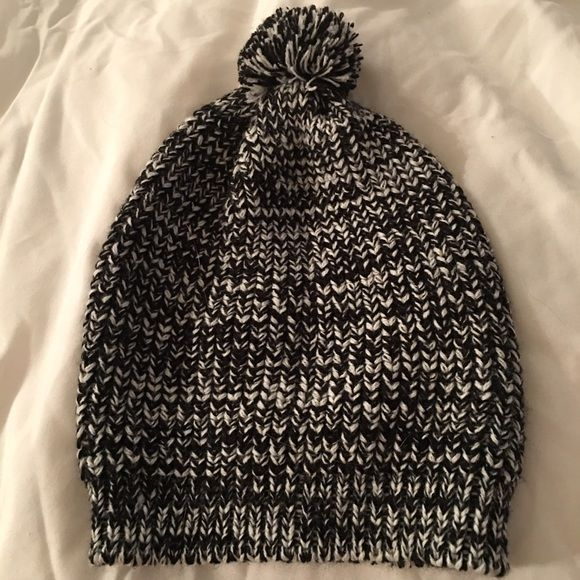 fa8e8df7d80 Marled navy white Pom Pom beanie slouchy Brand new without tags ordered  online at three bird nest Three Bird Nest Accessories Hats