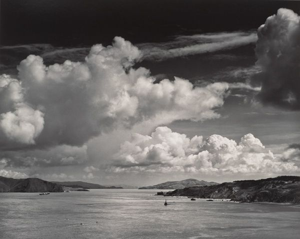 Ansel Adams, The Golden Gate Before the Bridge, San Francisco, California, ca. 1932; printed ca. 1972; gelatin silver print; Collection SFMOMA, Gift of Alfred Fromm, Otto Meyer, and Louis Petri, San Francisco;