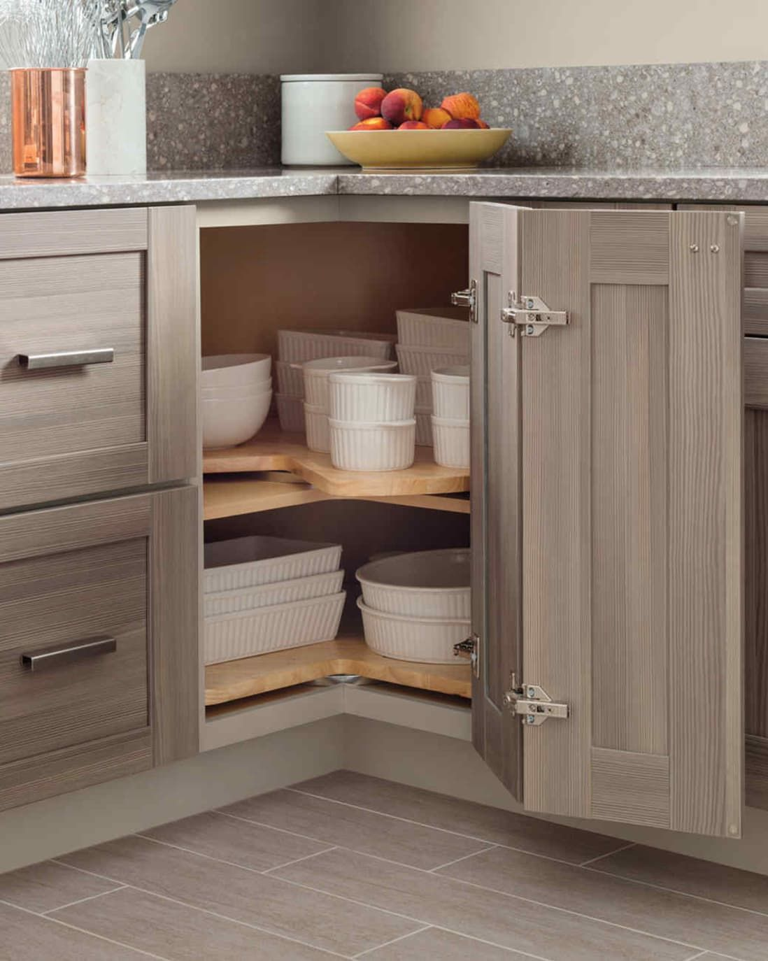 10 kitchens that solve the awkward corner conundrum in 2020 with images corner kitchen on organizing kitchen cabinets zones id=22764
