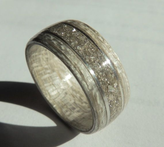 Bentwood Ring Gray Koto With Silver German Gl And Non Metal Wooden Wedding Anniversary