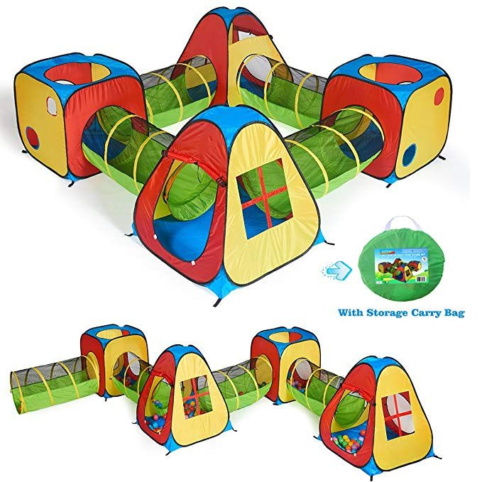 new style 71854 a052a Amazon.com: UTEX 8 in 1 Pop Up Children Play Tent House with ...
