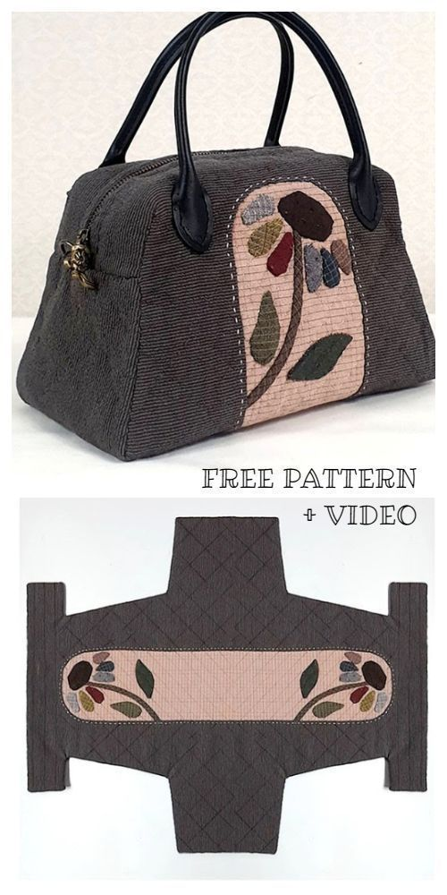 DIY One Piece Fabric Quilt Bag Free Sewing Pattern + Video, #diy # One Piece ......