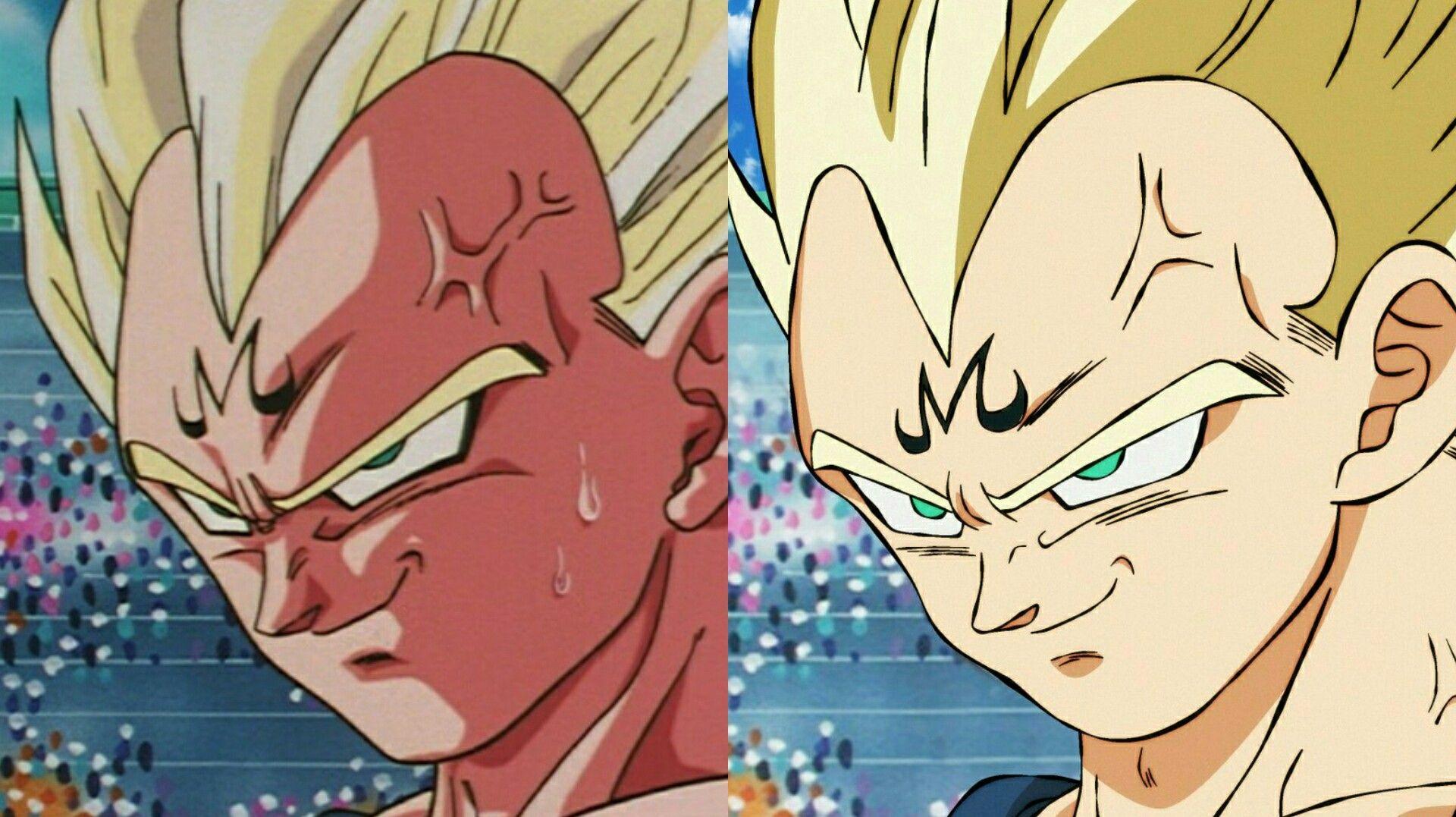 Old vs new majin vegeta (With images) Dragon ball
