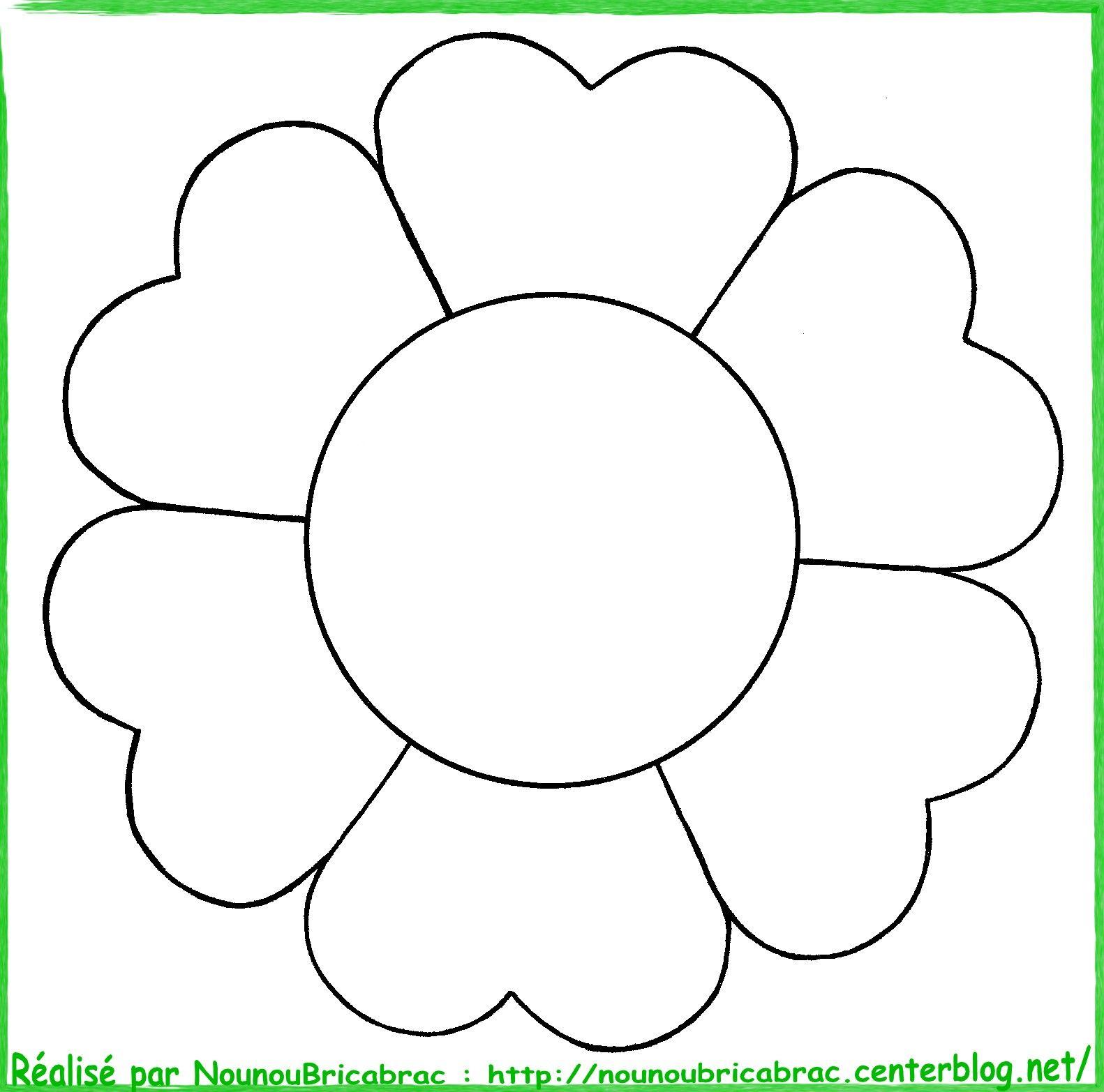 Fleur colorier coloriage mod le de fleur gabarit - Fleurs a dessiner modele ...