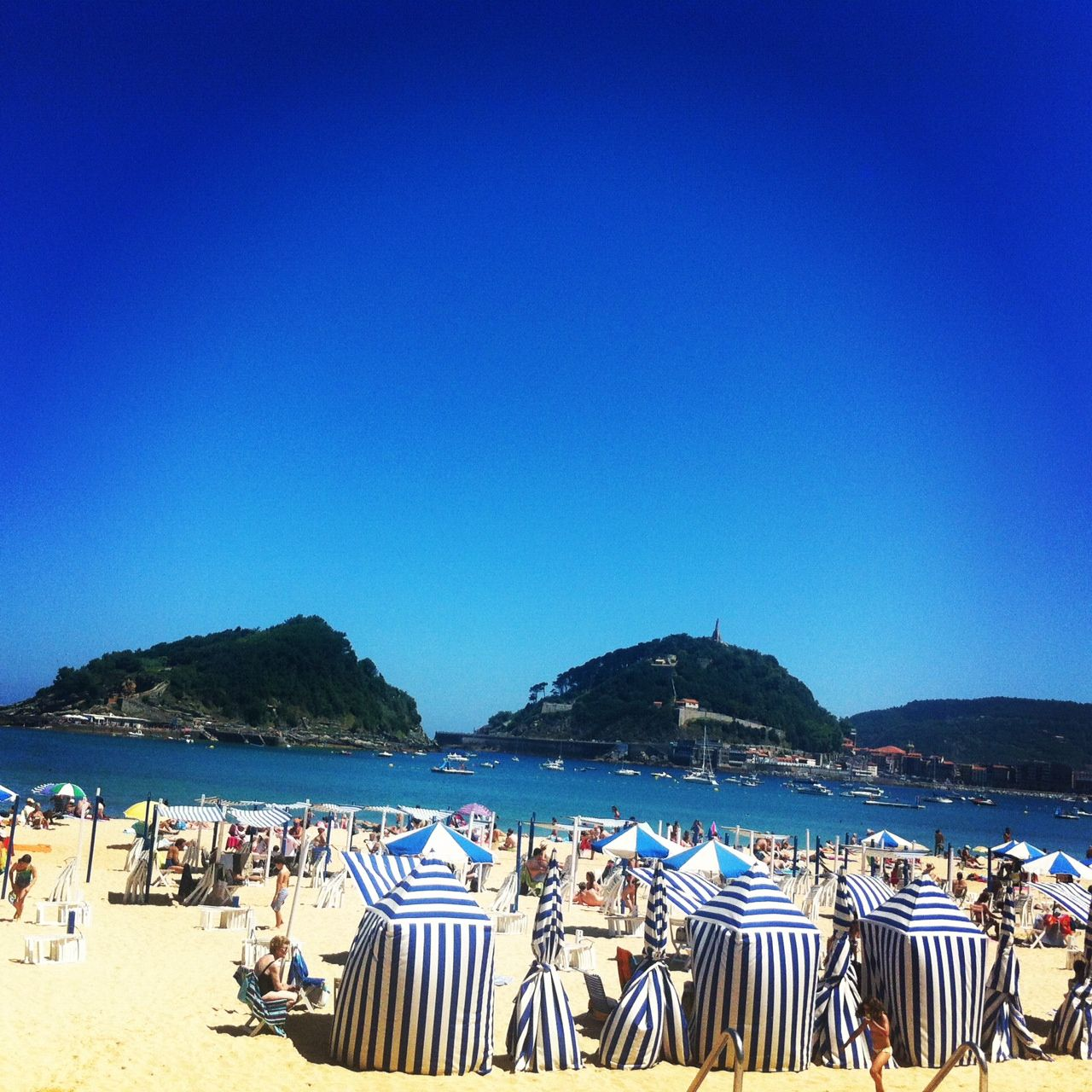 Donostia, Basque Country, Spain--Coastal beaches are a summertime draw, but the region is also home to a famous cuisine and to lively and interesting cities like Bilbao, with its Guggenheim Museum, and the great Belle Epoque resort of San Sebastian.