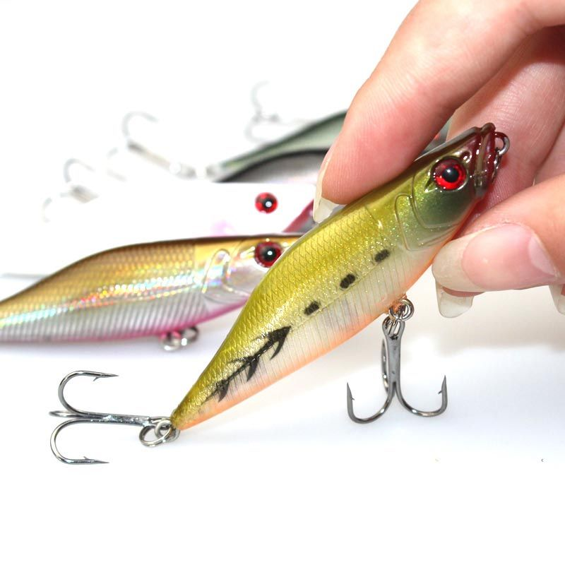 $1.61 (Buy here: http://appdeal.ru/4xnv ) 1PCS Fishing Lure 7CM 7.2G Crankbait Plastic Hard Bait Fresh Water Deep Water Bass Walleye Crappie Minnow Fishing Tackle for just $1.61