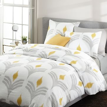 king bedding wavy cover applique duvet mu sheets ikat aerin prod p scallop