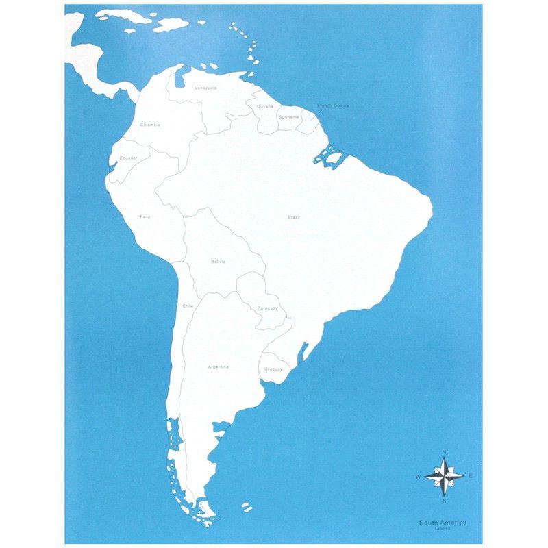 Mapa America Del Sur Con Nombres.Lamina De Control Con El Mapa De America Del Sur Con Los