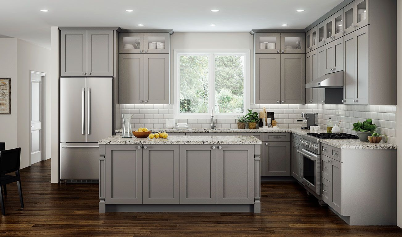 Cnc Concord Elegant Dove Kitchen Cabinets In 2020 Kitchen Decor Trends Beautiful Kitchen Cabinets Kitchen Layout