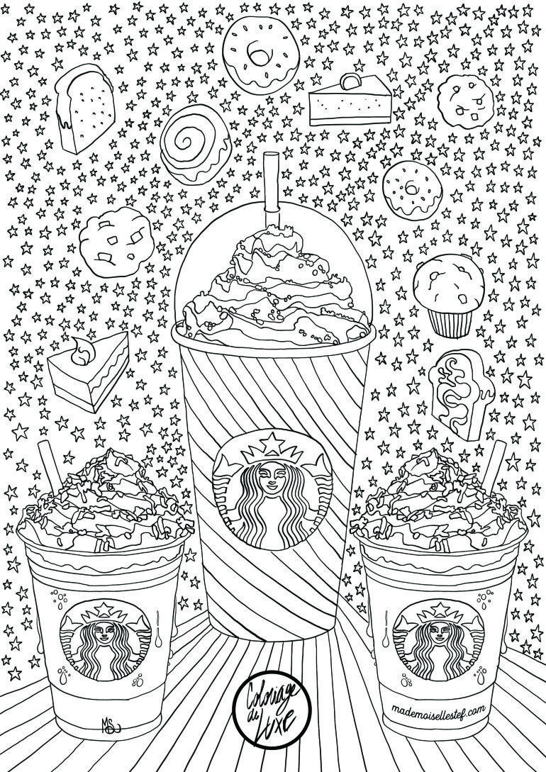 starbucks coloring pages Coloriage Starbucks | Coffee + Tea Coloring Pages for Adults  starbucks coloring pages
