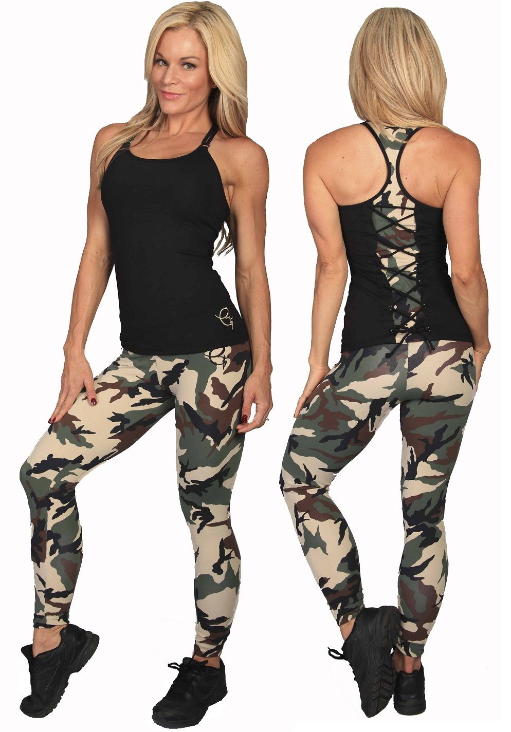 Army print sort wear Gym clothes women, Camo outfits