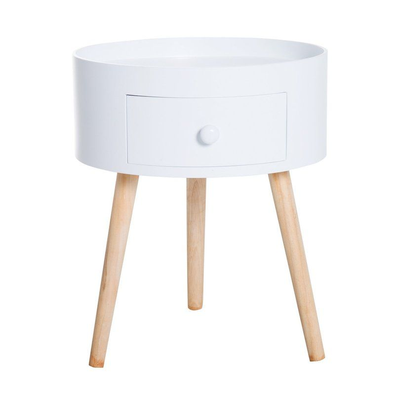 Tingas Round Side Table With Storage Round Coffee Table Modern
