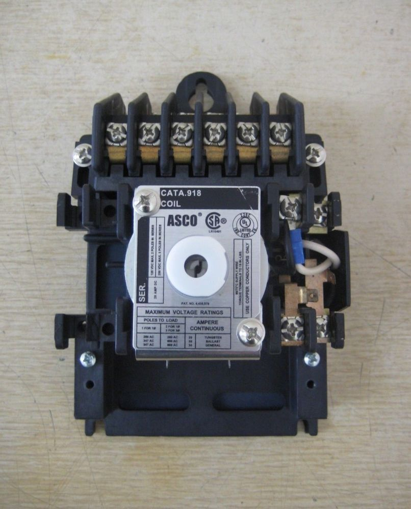 medium resolution of new asco 918 20 amp 20a 110 120v coil remote control panel lighting asco 940 wiring diagram