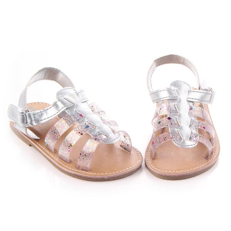 Glitter New Baby Cute Solid Sandals Anti-slip New Born Baby Shoes Casual Footwear for Newborns