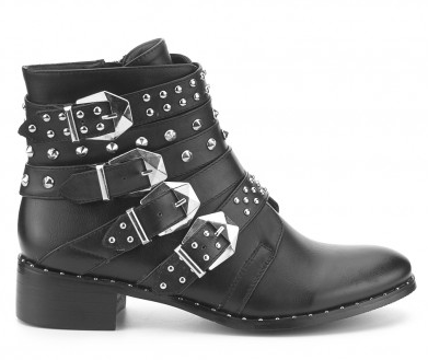 Zapatos con tachuelas y hebillas Botas Negro Bronx nJHmNluUah