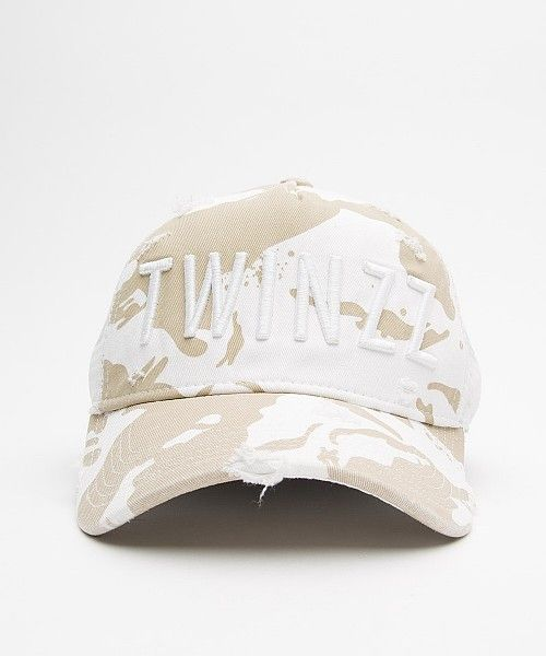 7ced8d11992 Twinzz Distressed Camo Trucker Cap