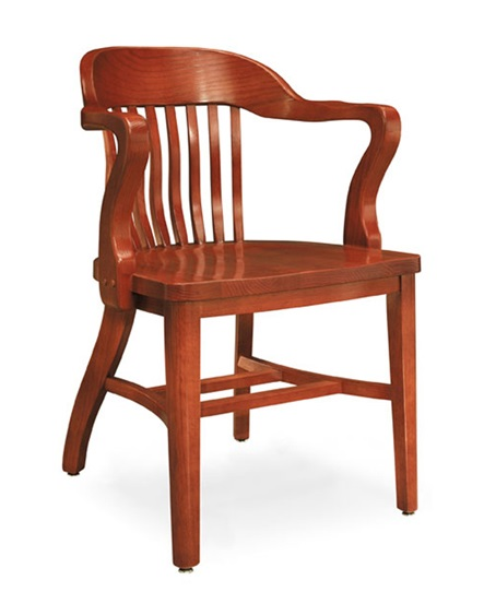 Boston Solid Oak Chair W Tall Arms By Community 981a 24082