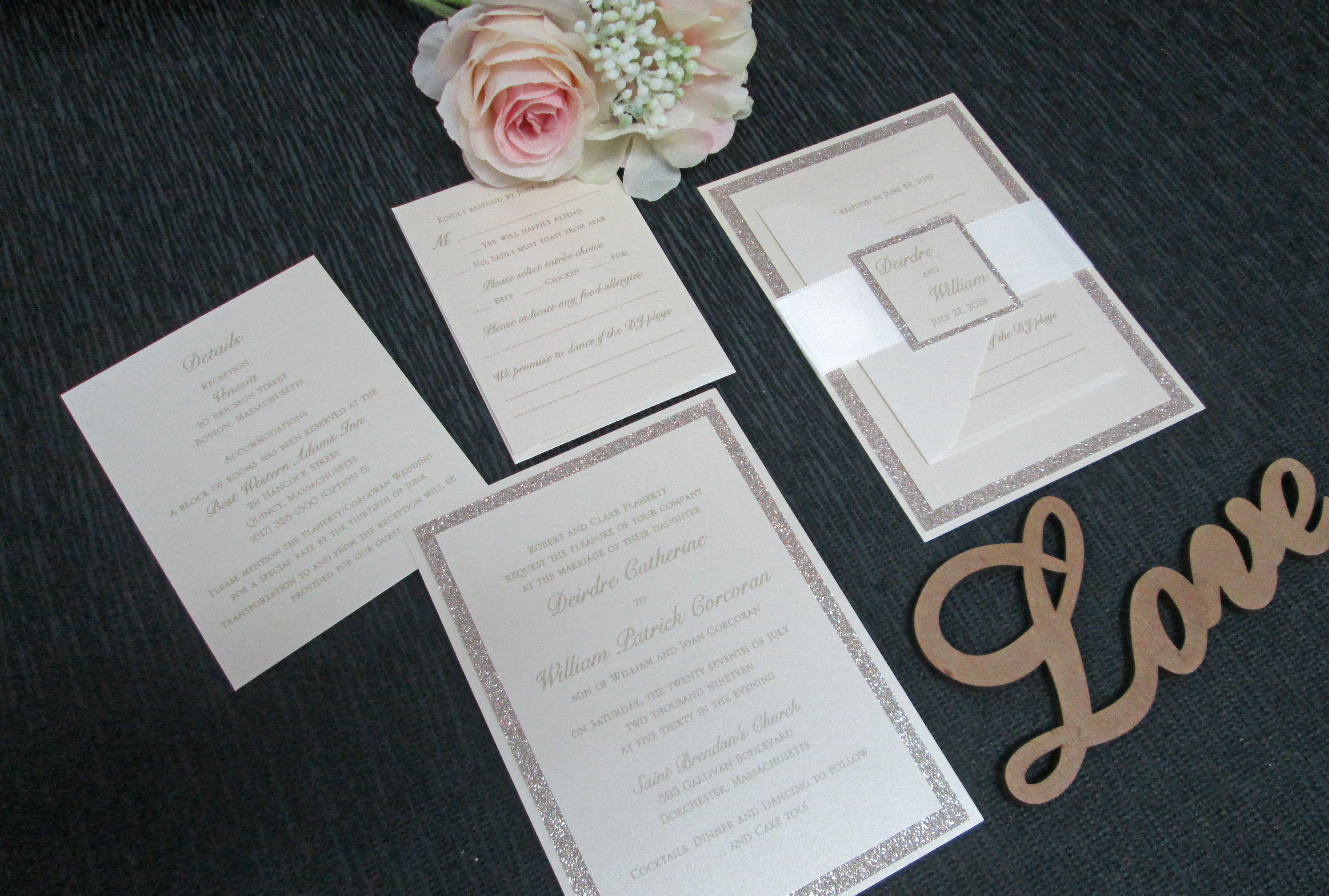 Gold Glitter Invitation Making Wedding Invitations Gold Glitter Invitation Wedding Invitations