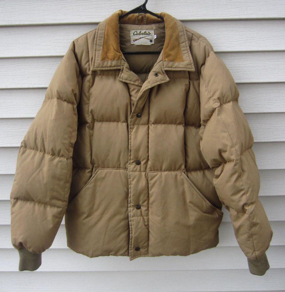 Vintage Cabela S Goose Down Men S Large Tan Hunting Puffer Jacket Coat Cabelas Puffer Winter Coats Jackets Jackets Coats Jackets [ 1000 x 978 Pixel ]