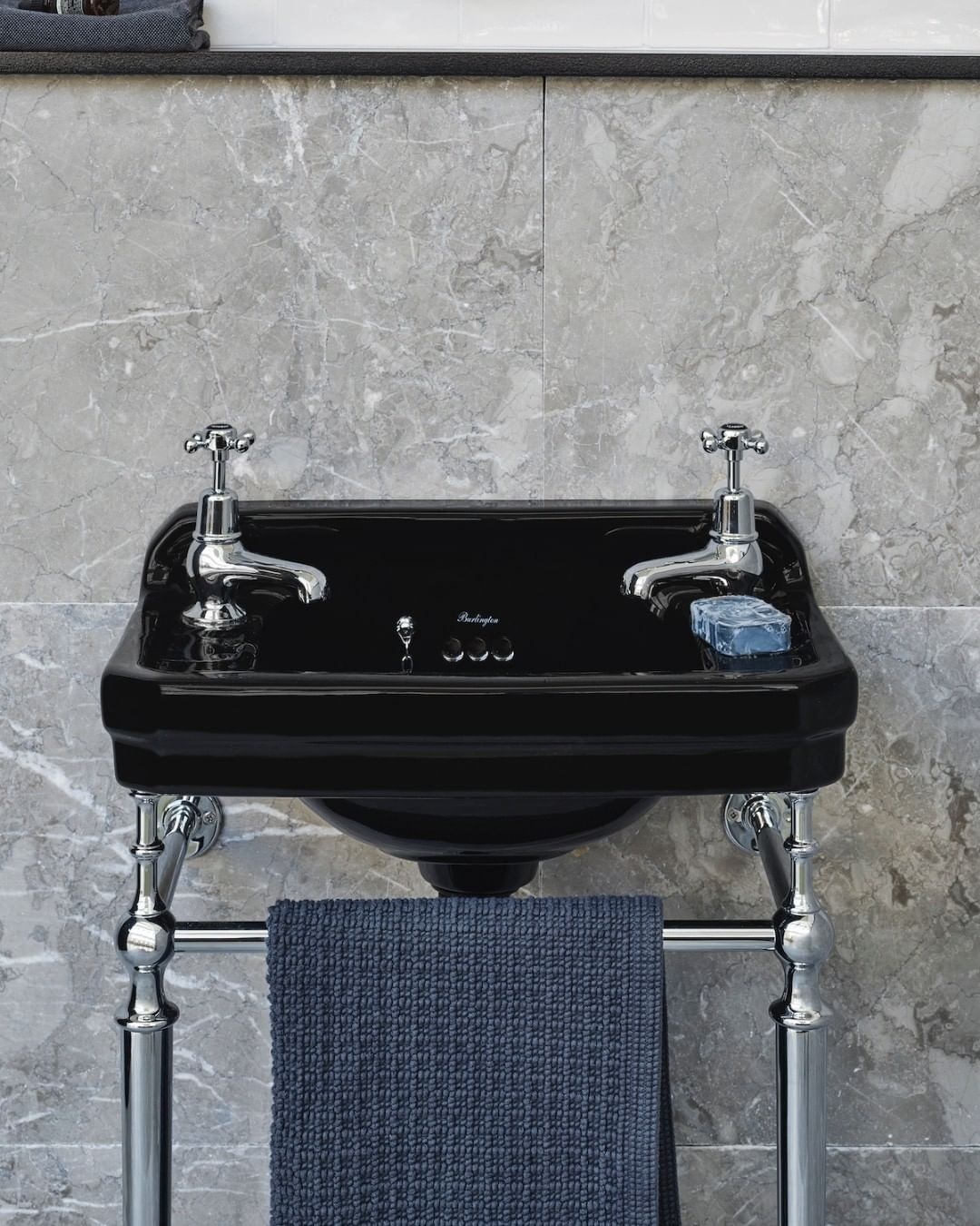 Burlington Bathrooms On Instagram Embrace Your Dark Side With Our Edwardian Cloakroom Basin In In 2020 Cloakroom Basin Nautical Bathroom Decor Bathroom Paint Colors