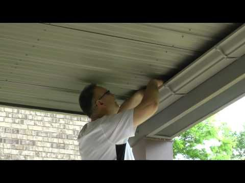 Building A Inexpensive Ceiling Under My Existing 2nd Story Deck Youtube Under Decks Under Deck Roofing Vinyl Deck