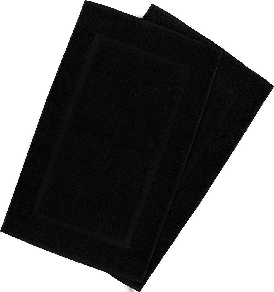 Black 21X34 Bathroom Rug Mat Set of 2 Tub Shower Rug Cotton New Free Shipping #B...,  #21x34 #Bathroom #bathroomrugsbathmatsblack #Black #cotton #Free #Mat #Rug #Set #Shipping #Shower #Tub